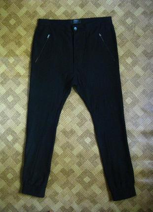 Джоггеры джогеры спортивные штаны из шерсти шерстяные topman drop crotch /36l - наш 50р