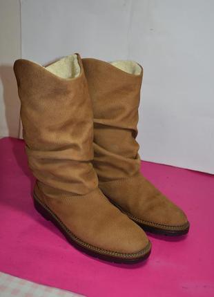 Женские  кожаные  сапоги  на натуральном меху  rieker