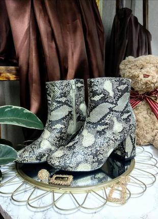 Ботинки в змеиный принт