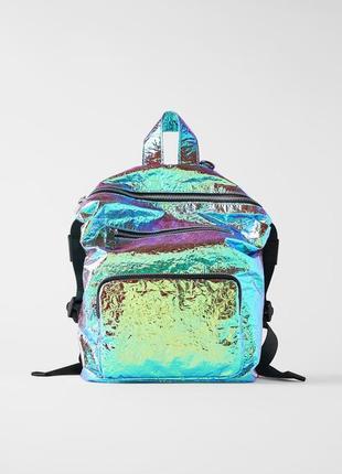 Переливающийся рюкзак zara