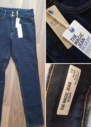 Темносиние джинсы стрейч моделирующие фигуру 10 ( 38) marks spencer.осень - весна❤🍁 .