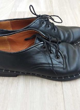 Кожаные туфли на девушку 24,3см-37р.