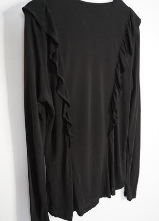 Женская нарядная кофточка в сетку с воланами гольф сетка водолазка блузка блуза l