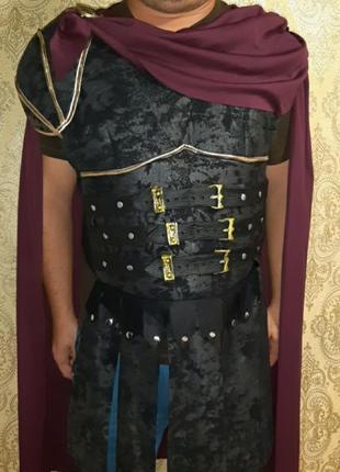 Мужской каргавальный костюм римского солдата-гладиатора, воина косплей
