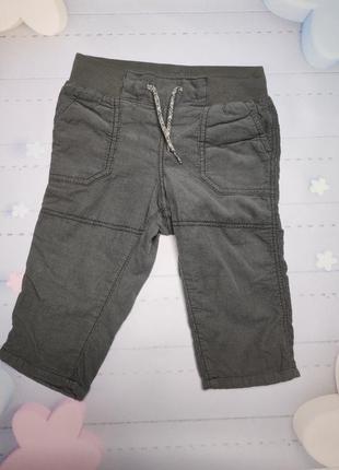 Вельветовые штанишки h&m на подкладке.