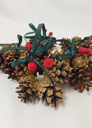Новогодний декор, украшения на ёлку из натуральных шишек, 1 шт!