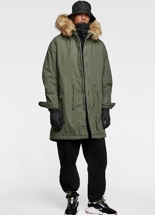 Утепленная парка, куртка zara