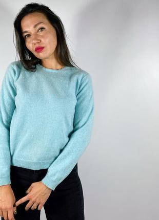 Голубой кашемировый свитер