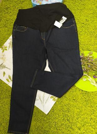 Темно сині джинси на вагітних від george