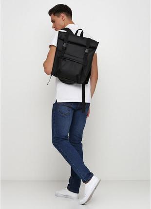 Рюкзак ролл sambag унісекс rolltop lshm, екошкіра, чоловічий ранец, экокожа, мужской