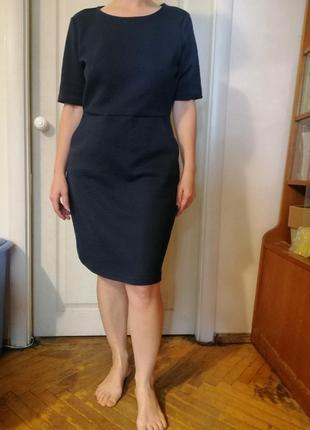 Платье офисное темно синее с карманами, дания, vero moda