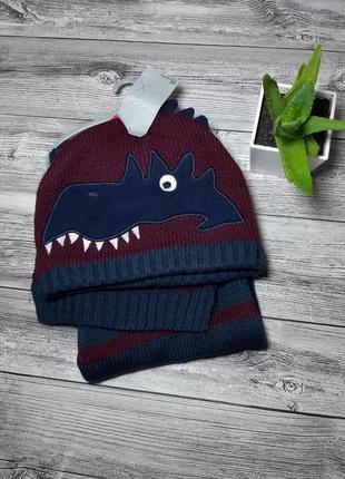 Детский набор шапка шарфик