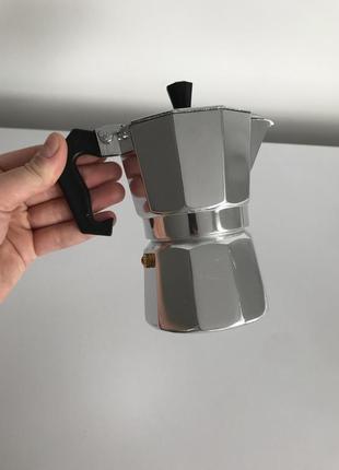 Чайник для кави кофеварка, кофеварка для плиты, гейзерная кофеварка.