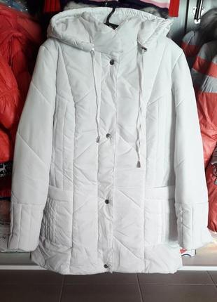 Белоснежная демисезонная куртка, женская куртка деми белая
