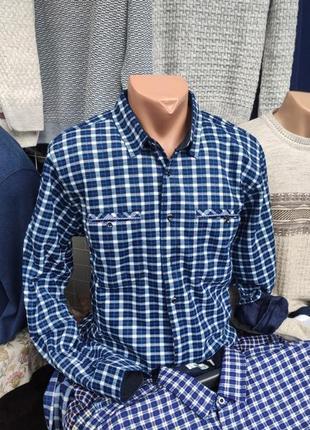 Рубашка утепленна мікрофліс хлопок