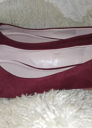 Dorothy perkins туфли балетки на широку ногу бордо