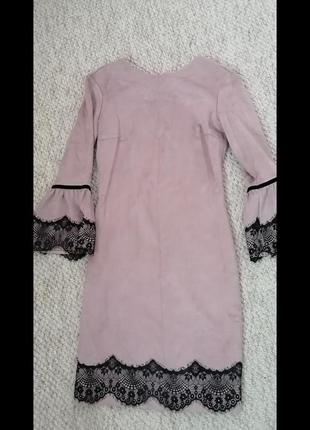 Коктейльное платье под замш 42-44 ❤️