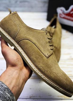 Мужские замшевые туфли на шнурке asos