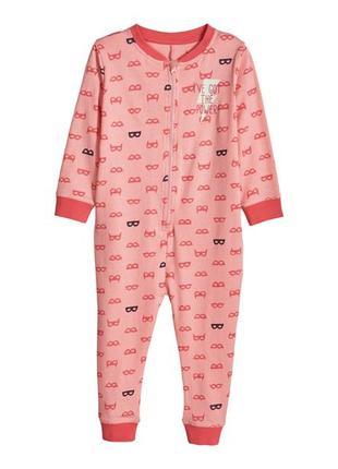 Слип пижама трикотажный комбинезон для девочки