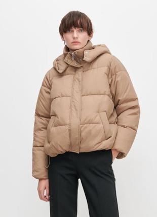 Бежевая оверсайз куртка осень весна reserved l