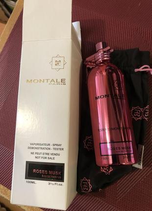 Montale roses musk парфюмированная вода, тестер, 100 мл