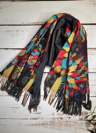 Стильный двухсторонний шарф, палантин (кашемир и вискоза)