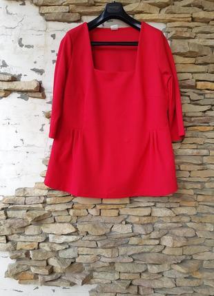 Роскошный фактурный с квадратным вырезом блузон большого размера