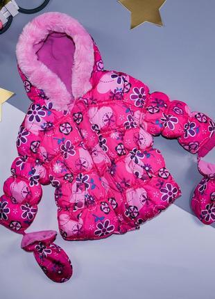 Курточка тёплая на 6-9 мес