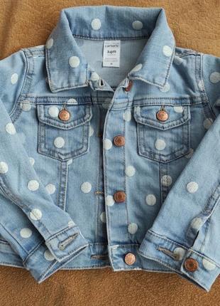 Carter's джинсова куртка