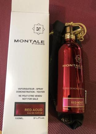 Парфюм montale red aoud (монталь ред уд), унисекс, тестер, 100 мл