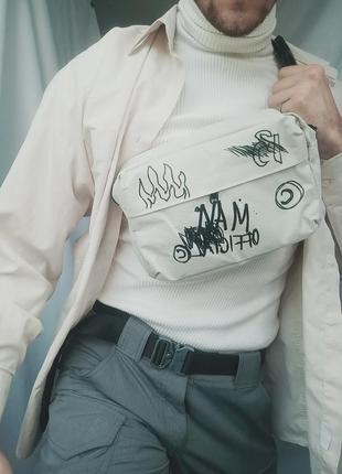 Нагрудная сумка, кроссбоди, граффити  man
