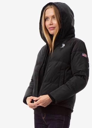 Женская демисезонная куртка u.s. polo assn размер s m черная