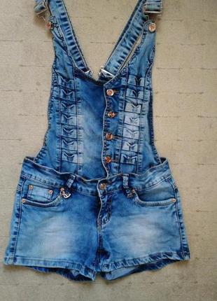 Джинсовый комбинезон#летние шорты#джинсовые шорты