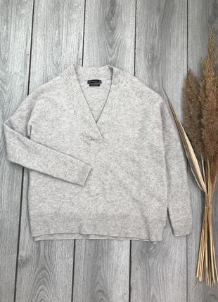 Zara зара новая кофта свитер оверсайз 100% кашемир cashmere серый м 38 10