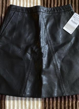 Новая кожаная юбка от zara