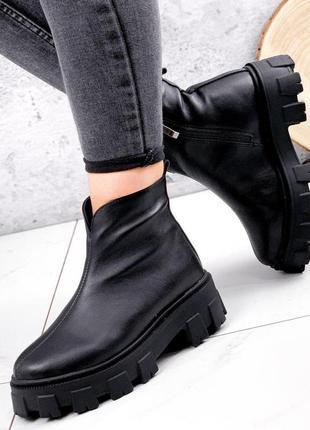 Ботинки женские elias черные зима