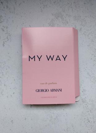 Пробник парфума giorgio armani my way