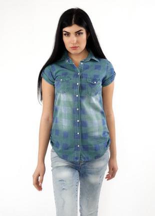 Рубашка джинс на кнопках