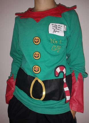 Новогодний рождественский свитшот реглан эльф