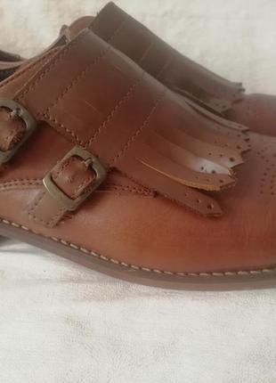 By hudson кожаные туфли лоферы шкіряні туфлі р. 40 ст. 26 см