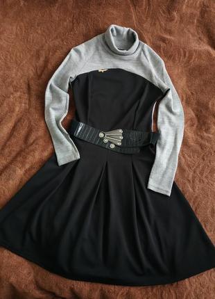 Стильне тепле осіннє, зимове платтяч сукня, м-л, дешево