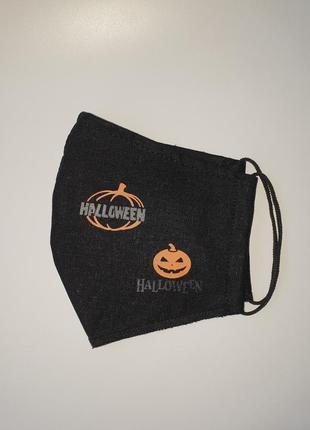 Многоразовая двухслойная защитная маска для лица halloween