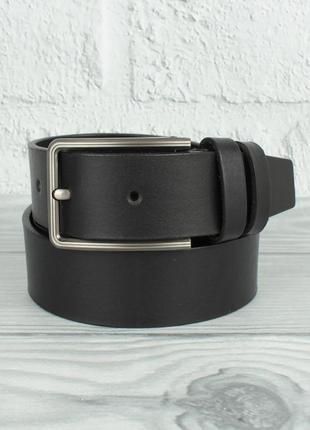 Кожаный классический ремень maybik 15009-2 черный 35 мм