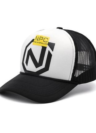 Кепка тракер npc с сеточкой, унисекс белый