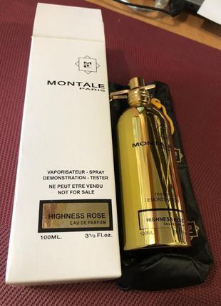 Montale highness rose парфюмированная вода, женский, тестер, 100 мл