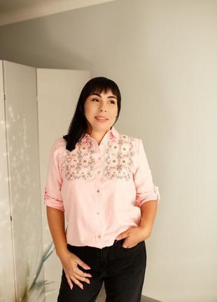 Рубашка с блестящей вышивкой🎀