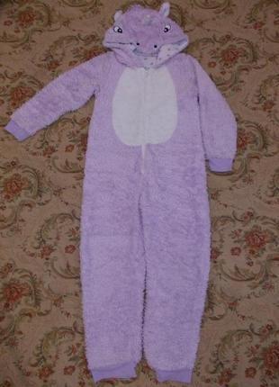 Пижама кигуруми слип человечек единорог на 8-9 лет рост 128-134 см