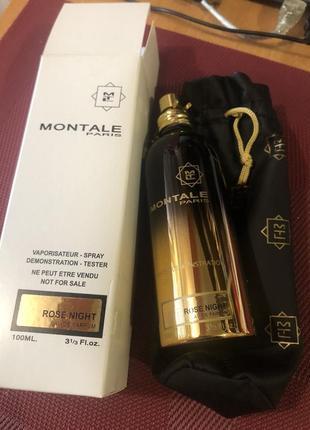 Парфюмированная вода тестер montale rose night, унисекс, 100 мл