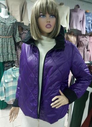 Женская стильная двухсторонняя  демисезонная курточка