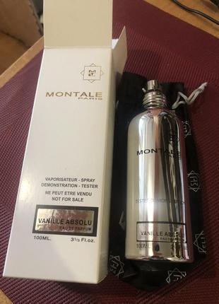 Парфюмированная вода унисекс montale vanilla absolu, женский, тестер, 100 мл